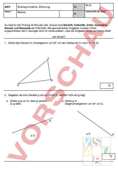 www.unterrichtsmaterial.ch - Geometrie - Symmetrien - Prüfung ...