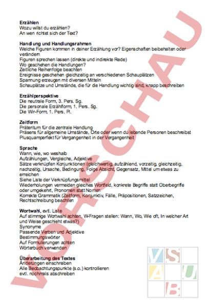 Arbeitsblatt Die Perfekte Erzählung Zusammenfassung In