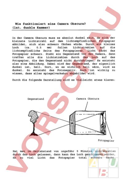 www.unterrichtsmaterial.ch - Physik - Optik - Camera obscura ...