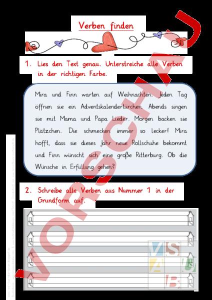 Arbeitsblatt: Zeitwörter - Deutsch - Grammatik