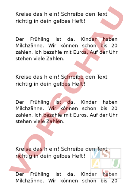 Arbeitsblatt: Lernwörtertext 2. Klasse stummes h - Deutsch ...