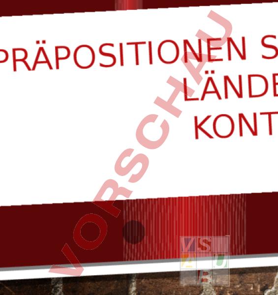 Arbeitsblatt: PPT Präpositionen Städte, Länder, Kontinente ...