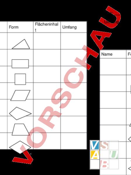 www.unterrichtsmaterial.ch - Geometrie - Flächen - Flächeninhalt und ...