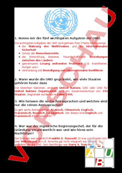 www.unterrichtsmaterial.ch - Geschichte - Politik - UNO ...