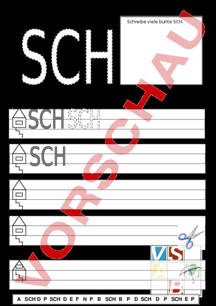 Arbeitsblätter Buchstabe Sch : Unterrichtsmaterial deutsch erstlesen