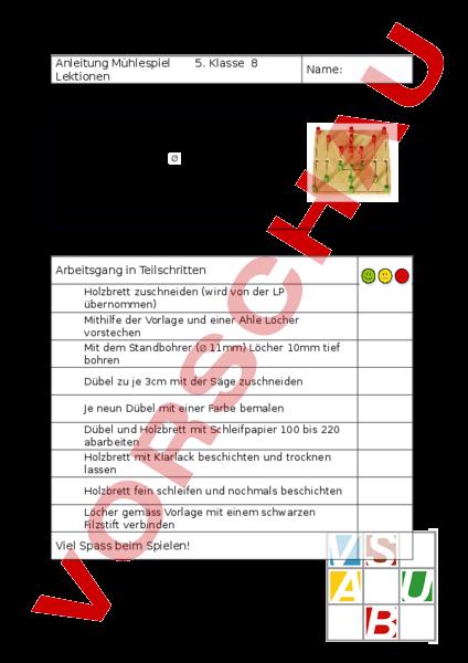 www.unterrichtsmaterial.ch - Werken / Handarbeit - Holz - Anleitung ...