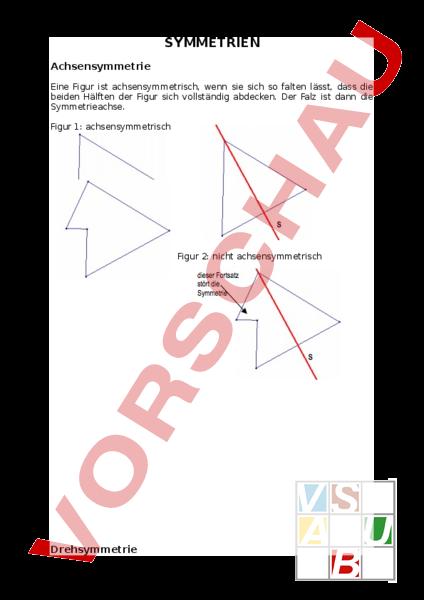 www.unterrichtsmaterial.ch - Geometrie - Symmetrien - Theorieblatt ...