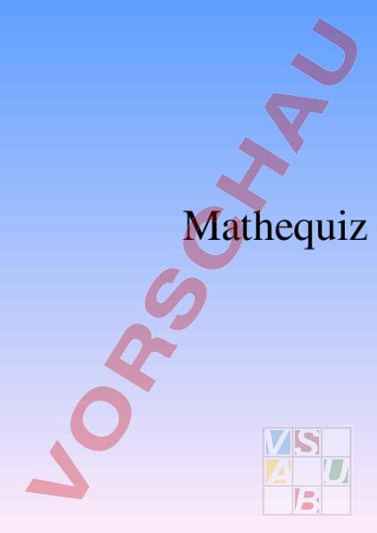 arbeitsblatt 1 sek kapitel 8 quiz mathematik repetition. Black Bedroom Furniture Sets. Home Design Ideas