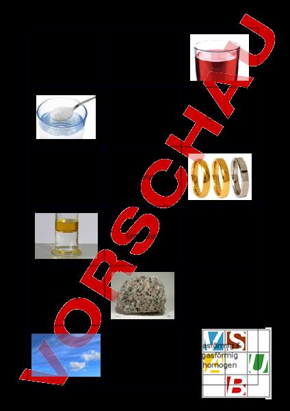 Arbeitsblatt: Zuordnungsspiel Gemische - Chemie - Anderes Thema
