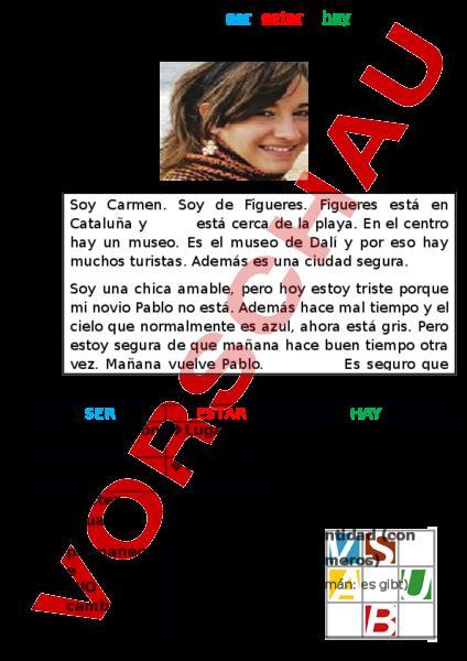 www.unterrichtsmaterial.ch - Spanisch - Grammatik - El uso de ser ...