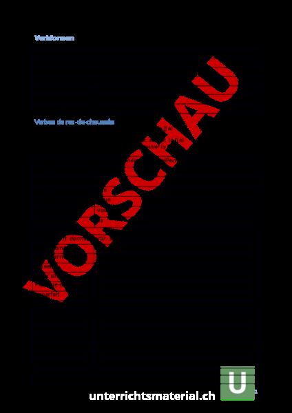 Arbeitsblatt: Verbformen - Französisch - Grammatik