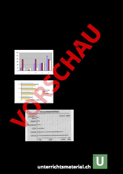 Arbeitsblatt: LK Diagramme/Sachrechnen - Mathematik - Gemischte Themen
