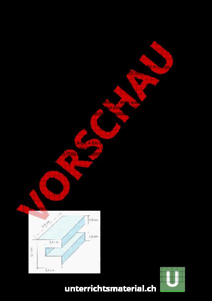 Arbeitsblatt: Rechteck, Quader 2 - Geometrie - Flächen