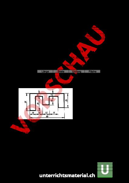 www.unterrichtsmaterial.ch - Geometrie - Flächen - Rechteck Quadrat ...