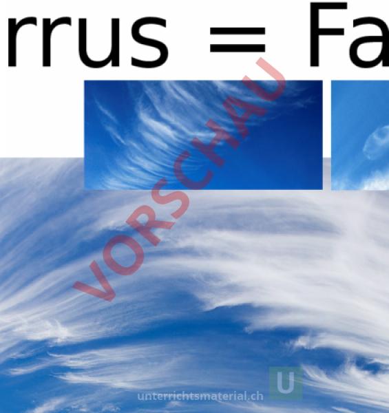 Arbeitsblatt: plakate wolken - Geographie - Anderes Thema