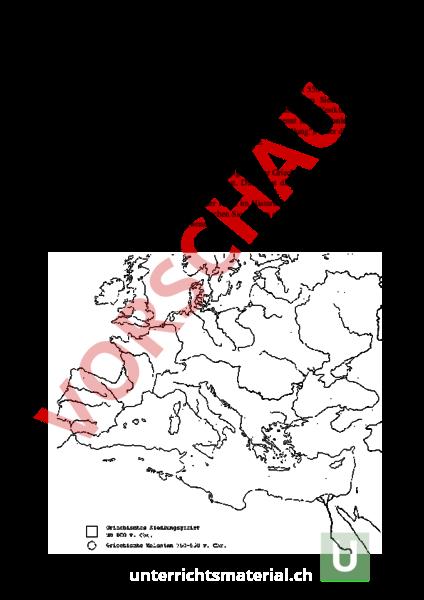 Arbeitsblatt: Antikes Griechenland - Geschichte - Altertum