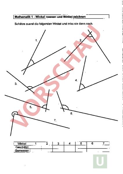 geometrie winkel mathematik 1 winkel messen und zeichnen. Black Bedroom Furniture Sets. Home Design Ideas