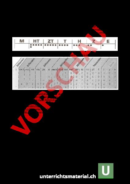 www.unterrichtsmaterial.ch - Mathematik - Mengenlehre - Stellentafel ...