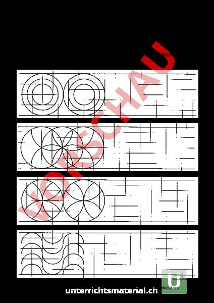 arbeitsblatt lernkontrolle ornamente mit zirkel mathematik anderes thema. Black Bedroom Furniture Sets. Home Design Ideas