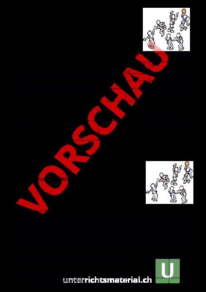 Arbeitsblatt: Bewertung Schnappball - Bewegung / Sport - Spiel