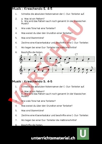 Arbeitsblatt: 1-2-3- Klavier - Musik - Musiktheorie / Noten
