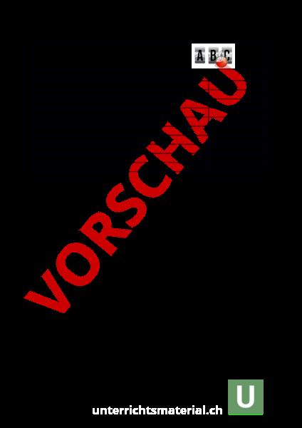 Arbeitsblatt: Vorlage abc srf3 - Deutsch - Gemischte Themen