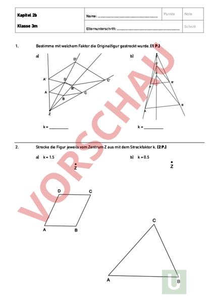 Ungewöhnlich Streckungen Arbeitsblatt Antworten Bilder - Mathe ...