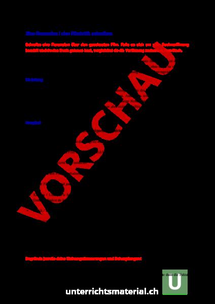 Arbeitsblatt: Eine Rezension / eine Filmkritik schreiben - Deutsch ...