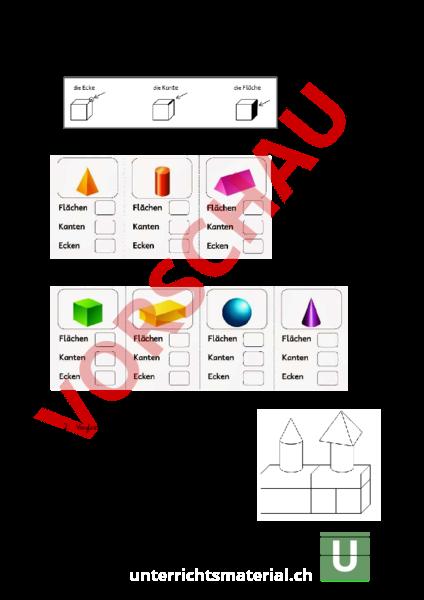 www.unterrichtsmaterial.ch - Geometrie - Körper / Figuren - Test ...
