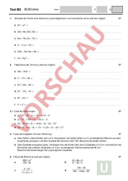 Nett Faktorisierung Arbeitsblatt Galerie - Arbeitsblätter für ...
