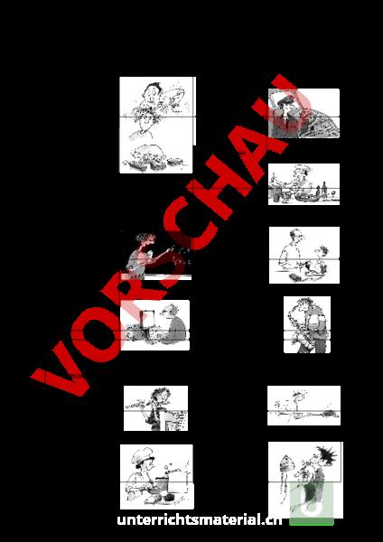 Arbeitsblatt: Memory Berufe - Französisch - Wortschatz