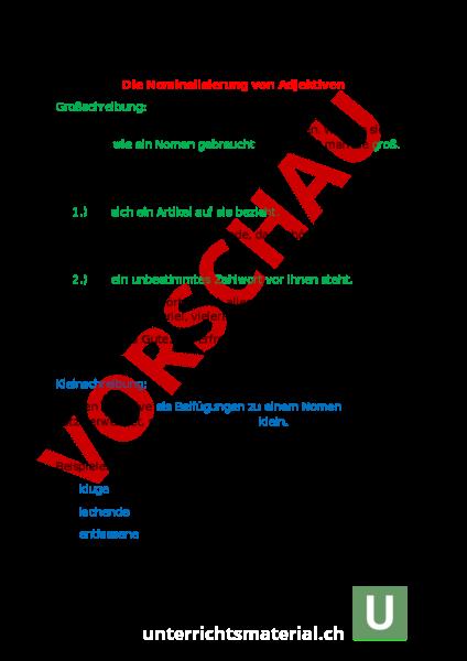 downloads arbeitsbltter lsungen zusatzmaterial - Nominalisierung Beispiele
