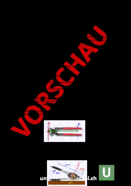 Arbeitsblatt: Prüfung Hebel, Arbeit (Rollen) - Physik - Mechanik ...