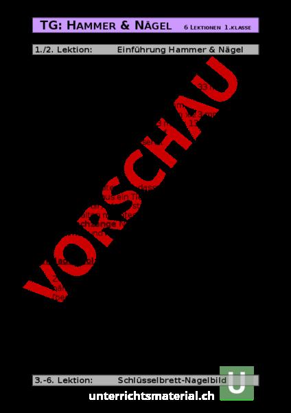 www.unterrichtsmaterial.ch - Werken / Handarbeit - Holz ...