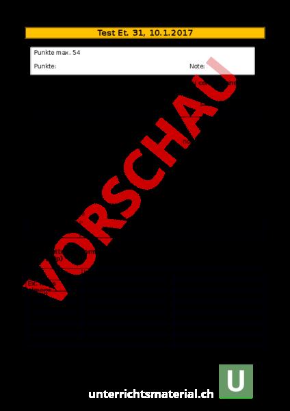 Arbeitsblatt: Et. 31 Conditionnel 1 - Französisch - Grammatik