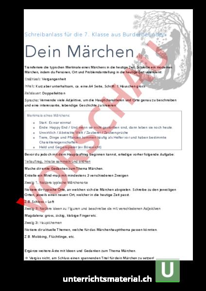 www.unterrichtsmaterial.ch - Deutsch - Texte schreiben ...