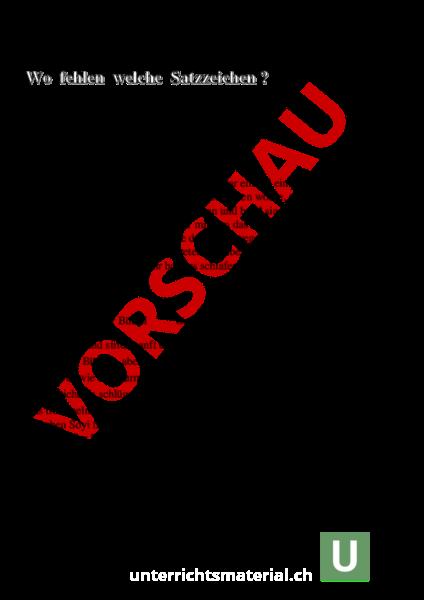 www.unterrichtsmaterial.ch - Deutsch - Grammatik - Setze die ...