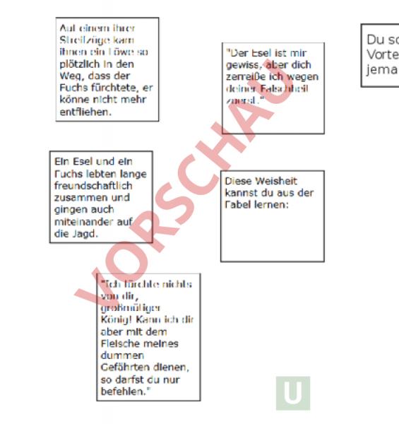 Arbeitsblatt: Fabel - Deutsch - Anderes Thema