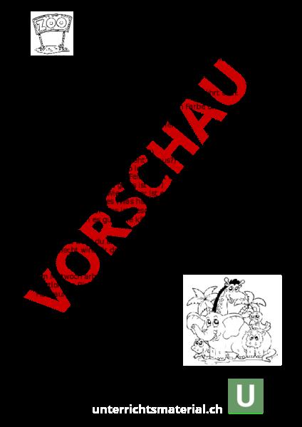 Ungewöhnlich Zoo Arbeitsblatt Für Die Erste Klasse Fotos ...