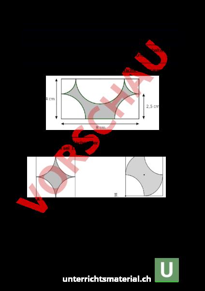 arbeitsblatt probe berechnungen am kreis und zylinder geometrie k rper figuren. Black Bedroom Furniture Sets. Home Design Ideas