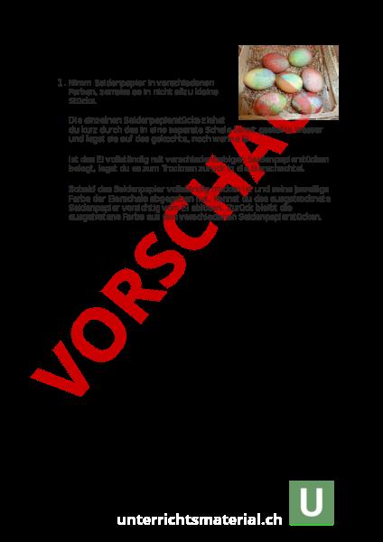 Arbeitsblatt: Eier färben - Wirtschaft, Arbeit, Haushalt - Anderes Thema