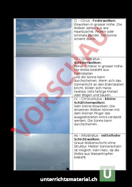 www.unterrichtsmaterial.ch - Mathematik - Gemischte Themen - Wolken ...