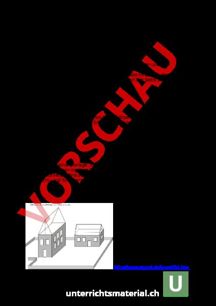 Arbeitsblatt: Übungen Parallelperspektive - Bildnerisches Gestalten ...