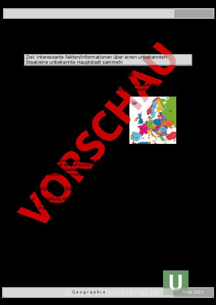 www.unterrichtsmaterial.ch - Geographie - Europa - Auftragsblatt ...