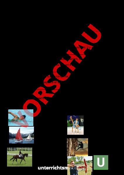 Arbeitsblatt: Envol 7 Unité 4 le sport - Französisch - Wortschatz