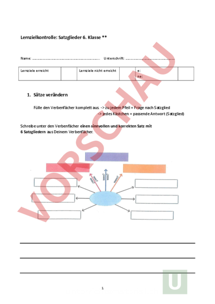 www.unterrichtsmaterial.ch - Deutsch - Grammatik - LZK Satzglieder 6 ...