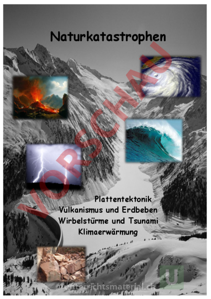 arbeitsblatt naturkatastrophen geographie geologie tektonik vulkanismus. Black Bedroom Furniture Sets. Home Design Ideas