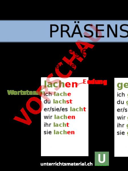 www.unterrichtsmaterial.ch - Deutsch - Grammatik - Präsens ...