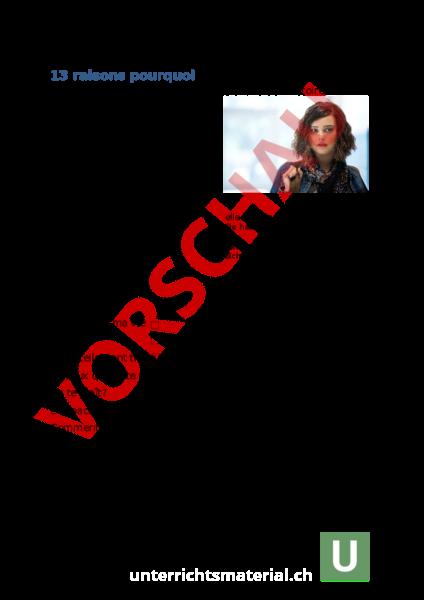 Arbeitsblatt Tote Mädchen Lügen Nicht Französisch Französisch