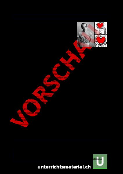 Arbeitsblatt: Biografie Keith Haring - Bildnerisches Gestalten ...